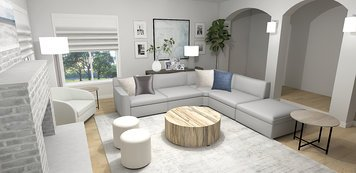Online design Transitional Living Room by Laura A. thumbnail