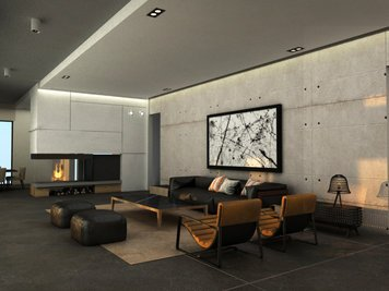 Online design Modern Living Room by Vanessa A. thumbnail