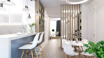 Online design Modern Combined Living/Dining by Rajna S. thumbnail