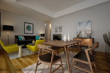 Online design Contemporary Combined Living/Dining by Ibrahim H. thumbnail