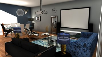 Online design Glamorous Combined Living/Dining by Muhammad H. thumbnail