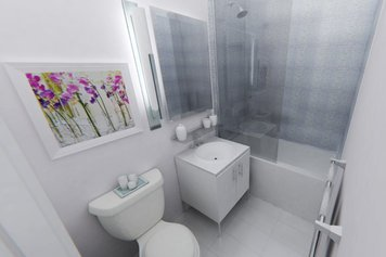 Online design Contemporary Bathroom by Michelle C thumbnail