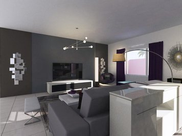 Online design Contemporary Living Room by Hannah D. thumbnail