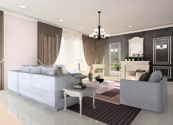 Online design Glamorous Living Room by Noraina Aina M. thumbnail