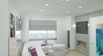 Online design Glamorous Combined Living/Dining by Merry M. thumbnail