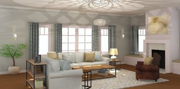 Online design Contemporary Living Room by Rebecca MC thumbnail