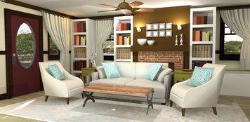Online design Transitional Living Room by Rebecca MC thumbnail