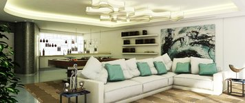 Online design Contemporary Combined Living/Dining by Robiel H. thumbnail