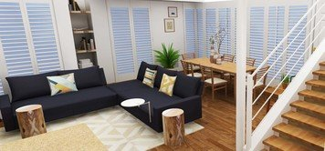 Online design Modern Combined Living/Dining by Tabitha M thumbnail