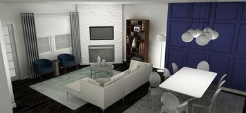 Online design Contemporary Combined Living/Dining by Tabitha M thumbnail