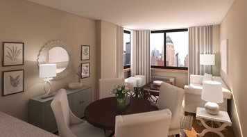 Online design Transitional Combined Living/Dining by Eleni P thumbnail