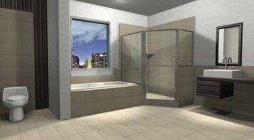 Online design Contemporary Bathroom by Daisy A. thumbnail