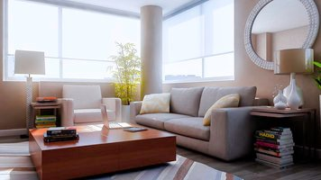 Online design Contemporary Living Room by Aldrin C. thumbnail