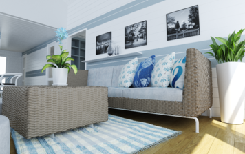 Online design Beach Living Room by Quyne N thumbnail