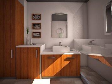 Online design Modern Bathroom by Anna T thumbnail
