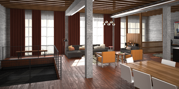 Online design Contemporary Combined Living/Dining by Anna T thumbnail
