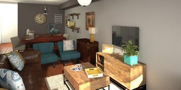 Online design Transitional Combined Living/Dining by Anna T thumbnail