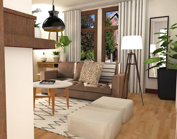 Online design Eclectic Living Room by Laura A. thumbnail