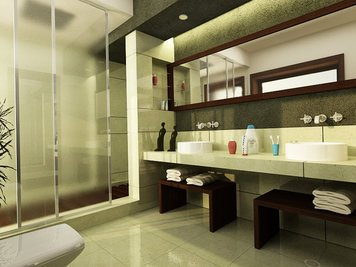 Online design Modern Bathroom by Andrew Z. thumbnail