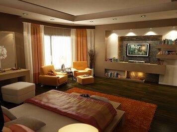 Online design Modern Bedroom by Andrew Z. thumbnail