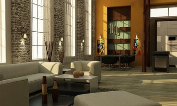 Online design Contemporary Combined Living/Dining by Andrew Z. thumbnail