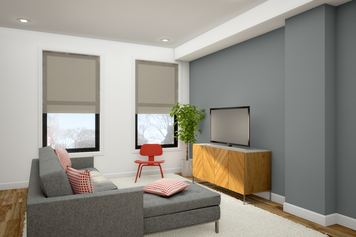 Online design Modern Combined Living/Dining by Picharat A.  thumbnail