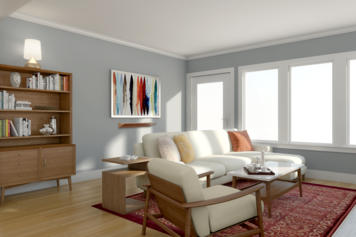 Online design Contemporary Combined Living/Dining by Picharat A.  thumbnail