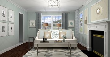 Online design Traditional Living Room by Rebecca M thumbnail