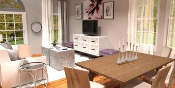 Online design Glamorous Combined Living/Dining by Brittany J. thumbnail