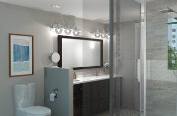Online design Modern Bathroom by Brittany J. thumbnail