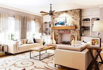 Online design Country/Cottage Living Room by Aldrin C. thumbnail