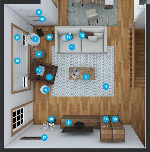Online Designer Living Room Floorplan