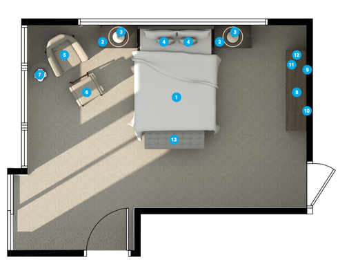 Online Designer Bedroom Floorplan