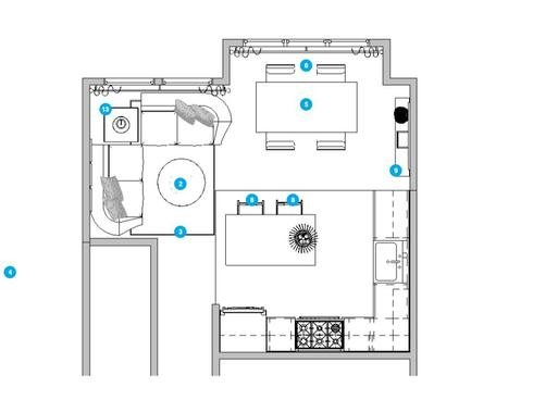 Online Designer Dining Room Floorplan