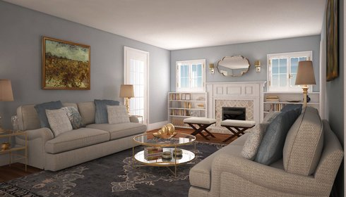 Comfy Living Room Transformation Decorilla