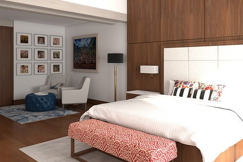 Hotel Inspired Transtional Master Bedroom In Decorilla
