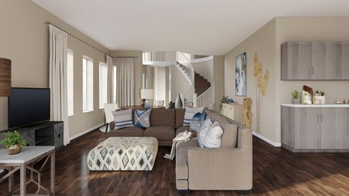 Magnificent Transitional Classy Living And Dining Room O Decorilla Squirreltailoven Fun Painted Chair Ideas Images Squirreltailovenorg