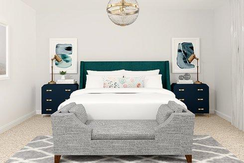 White and Bright Bedroom Transformation | Decorilla