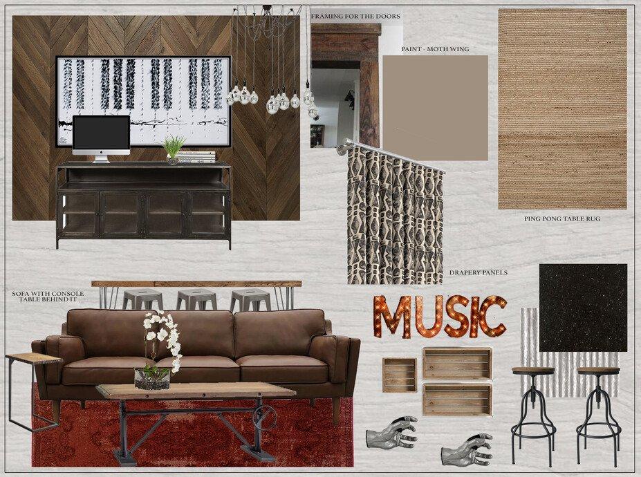 Basement Music And Game Room Decorilla