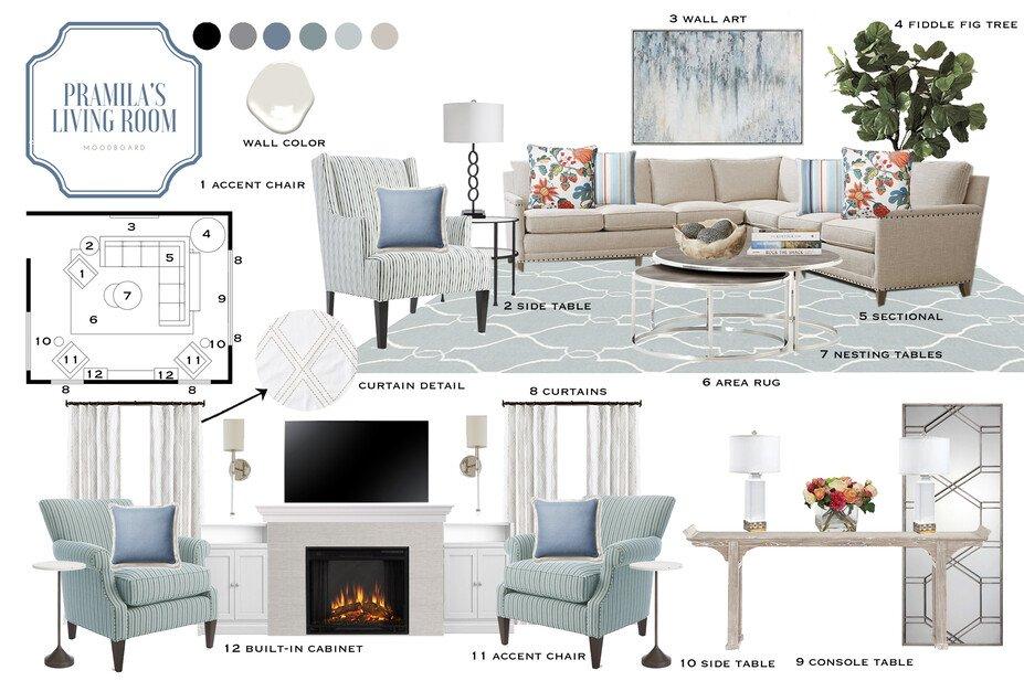 Transitional Living Room Decorating Ideas | Decorilla