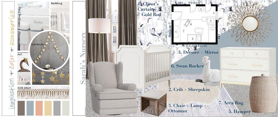 Online Designer Nursery Moodboard