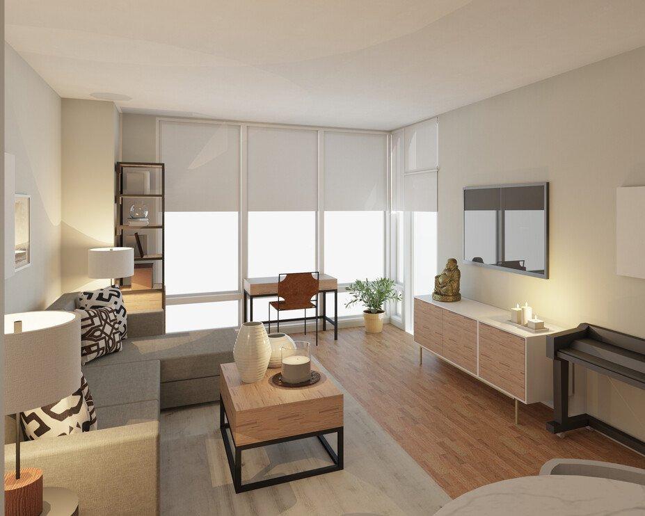 Terrific Contemporary Neutral Living Dining Room Decorilla Machost Co Dining Chair Design Ideas Machostcouk