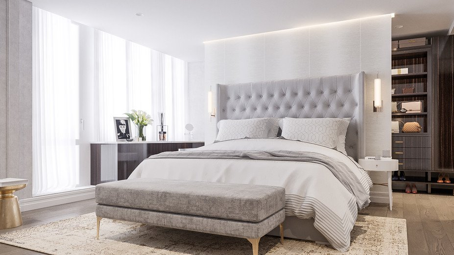 . Bright and Modern Master Bedroom   Closet De      Decorilla