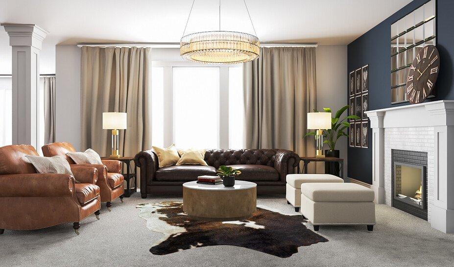 Masculine Glam Living Room Interior Design Decorilla