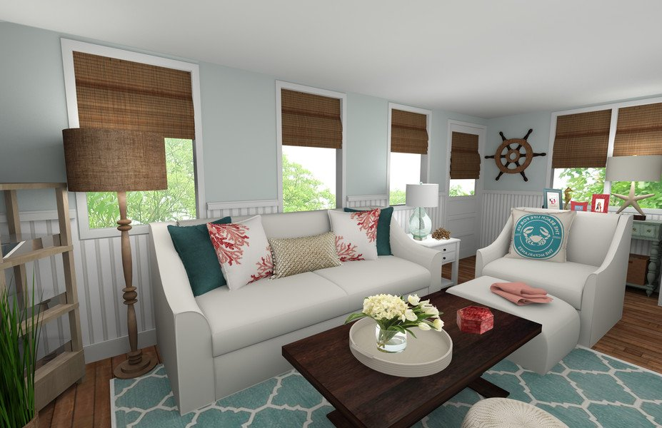 Beautiful Coastal Living Room Decorilla