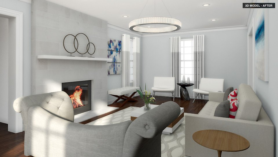 How to get a high-end contemporary living room design on a budget