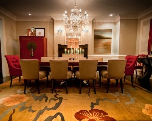 Elegant-Floral-Dining-Rugs-Decorating-Ideas
