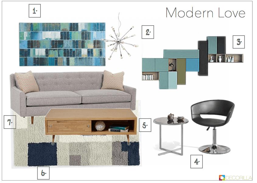 Modern style living room essentials