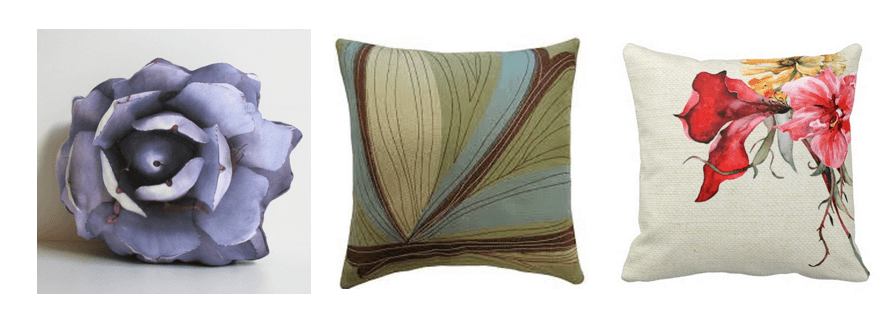 botanical pillows
