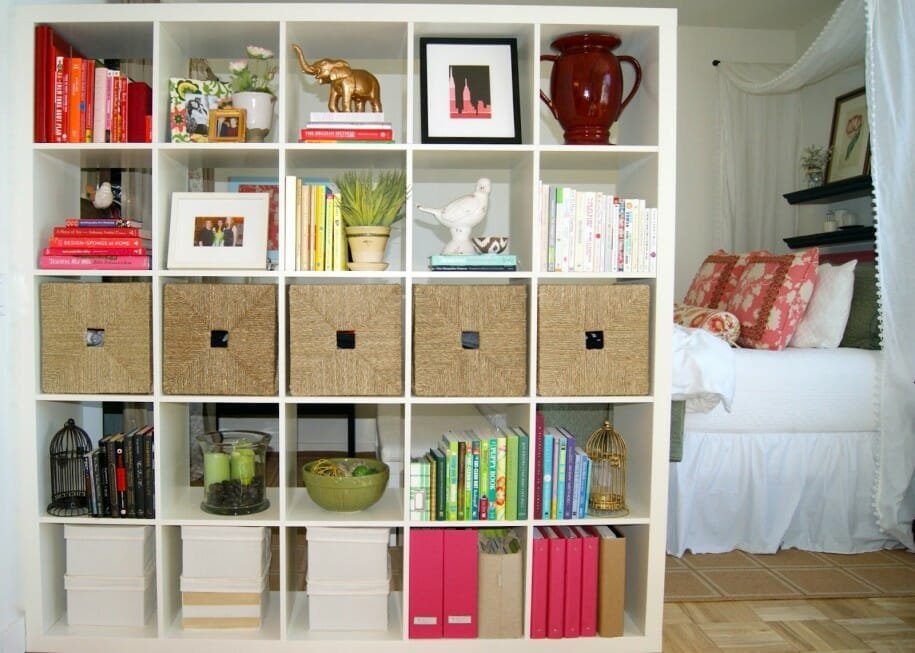 Indoor-Plant-Small-Bird-Cages-Rattan-Decorations-Bookcase-Ikea-Room-Dividers-Ideas